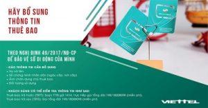 Hướng dẫn bổ sung thông tin thuê bao Viettel tại nhà, tránh khóa SIM