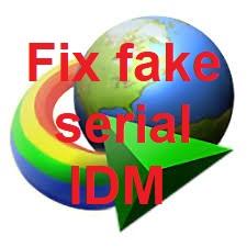Cách fix lỗi fake serial IDM nhanh gọn