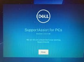 """Read more about the article Sửa lỗi supportassist """"Your system seems to be haveing trouble starting. Dell supportassist is scanning your hardware for a possible cause"""" laptop Dell"""
